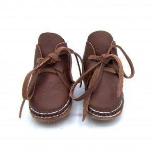 Hoge schoentjes donker bruin
